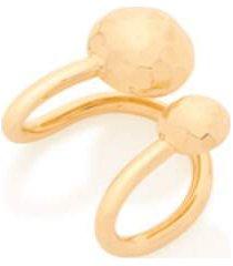 brinco bijoulux piercing de pressão ear cuff esferas semi jóia