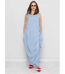 błękitna sukienka oversize celia