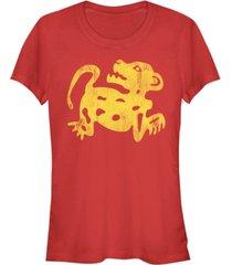 fifth sun legends of the hidden temple women's red jaguar short sleeve tee shirt