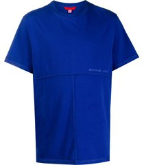 eckhaus latta stitched panel t-shirt - blue