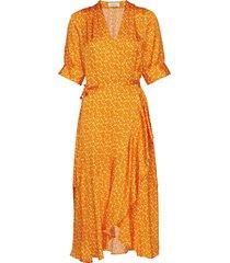 kweller jurk knielengte oranje rodebjer