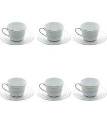 jogo 6 xícaras para chá noritake
