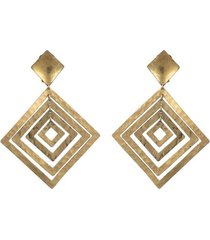 buffedss diamond clip earrings, women's, josie natori