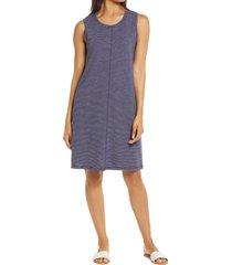 women's caslon muscle tank dress, size large - blue