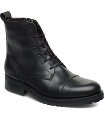 ave lace up boot shoes boots ankle boots ankle boot - flat svart royal republiq