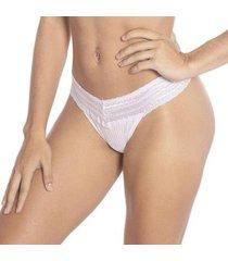 calcinha econfort modelo fio dental cotelê linha gloss feminina - feminino