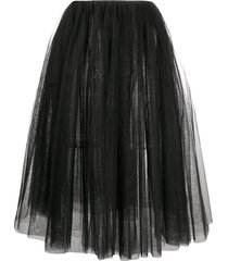 alchemy tulle a-line skirt - black