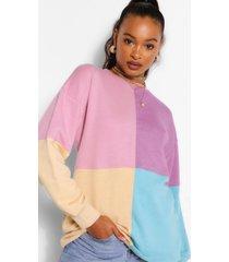 oversized colour block sweater, meerdere