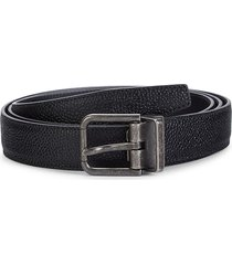 dolce & gabbana men's leather belt - black - size 110 (44)