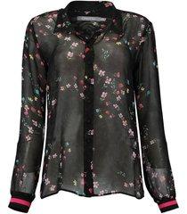 blouse chiffon zwart
