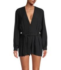 iro women's sullana tie-waist romper - black - size 36 (4)