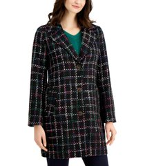 charter club petite tweed plaid jacket, created for macy's
