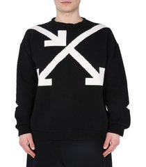off-white arrows twisted jacquard sweater