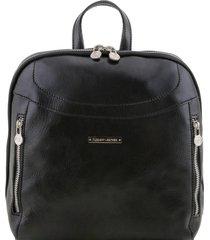 tuscany leather tl141557 manila - zaino in pelle nero