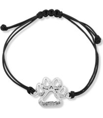 pet friends jewelry paw slider leather bracelet