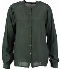 garcia groene viscose blouse