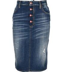d squared simple medium dalma denim skirt