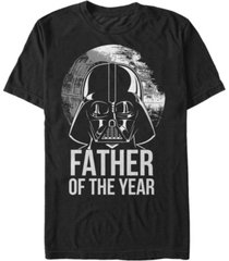 star wars men's classic darth vader father of the year short sleeve t-shirt