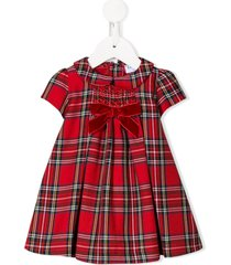 siola tartan print peter pan collar dress - red