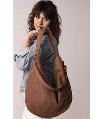 brązowa torba worek z zamszu ekologicznego