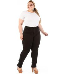 calça jeans confidencial básica plus size feminina