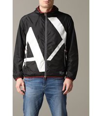 armani exchange jacket armani exchange reversible nylon jacket with logo