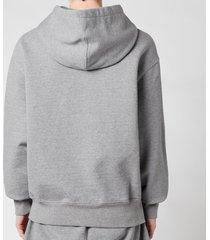 ami men's de coeur tonal hooded sweatshirt - heather grey - xl