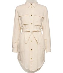 angelie ls shirt knälång klänning creme soft rebels