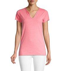 zadig & voltaire women's short-sleeve top - fleur neon - size xs