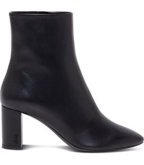 saint laurent lou ankle boots in leather