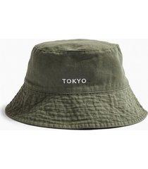 mens black green tokyo bucket hat