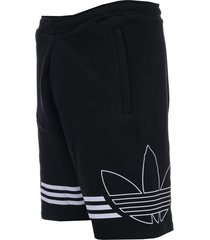 mens outline fleece sweat shorts