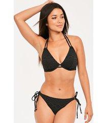 sundance underwire bandless halter bikini top