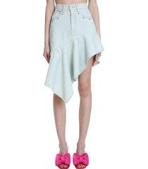 off-white skirt in grey denim
