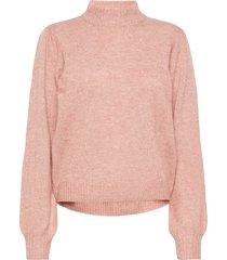angie knit pullover stickad tröja rosa minus
