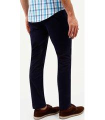 pantalón chino slim  fit, unicolor azul oscuro 40