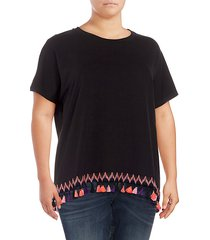 plus tassel short-sleeve tee