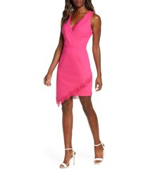 women's adelyn rae brie sheath dress, size small - pink