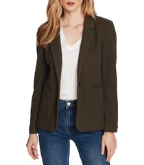 women's court & rowe stretch waffle knit blazer, size 18 (similar to 16w) - green