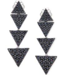 black diamond triangle drop earrings (1-1/2 ct. t.w.) in 10k white gold