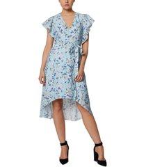 bcbgeneration printed wrap midi dress