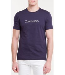 camiseta slim básica flamê calvin klein - marinho - pp