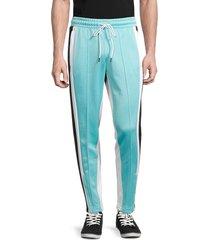 puma men's trackstar colorblock side-panel pants - blue - size xxl