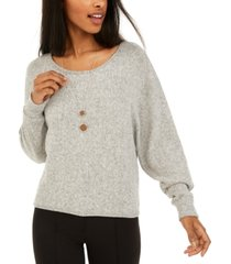 bcx juniors' fuzzy necklace top