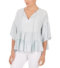 adyson parker tiered-hem peasant top
