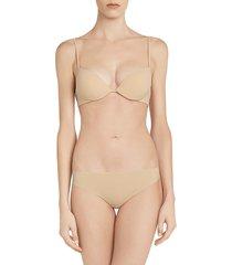 la perla women's second skin brazilian brief - black - size xs