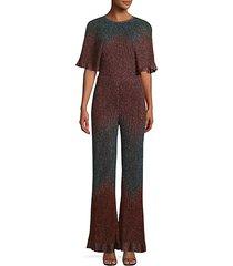 knit lurex jumpsuit