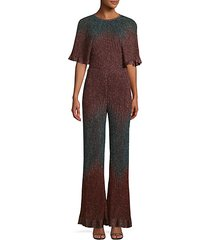 knit lurex jumpsuit