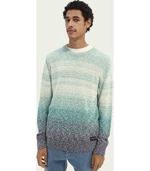 scotch & soda sweater met kleurovergang van een katoenmix