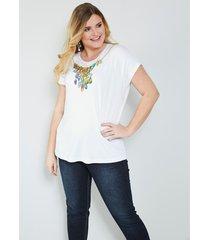 shirt sara lindholm wit::groen